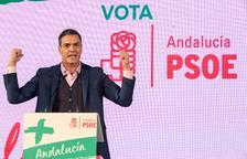 Sánchez, Casado i Rivera animen la campanya andalusa