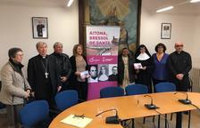 La presentació de la iniciativa turística d'Aitona, ahir a la seu del Bisbat de Lleida.