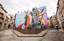 Sant Martí de Maldà estrena un mural 'rural'