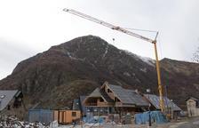 Imatge d'un dels habitatges que actualment estan en construcció a Bagergue.