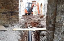 Los trabajos en curso en Palau de Noguera.