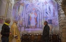 Imatge de les pintures barroques que s'han restaurat.