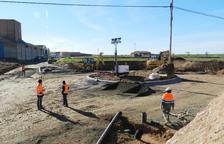 Rotonda per millorar l'entrada a Almenar des de l'autovia A-14