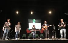 El grup Avstral, en un concert a Juneda el mes d'abril passat.