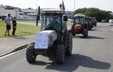Imagen de una movilización de payeses en Lleida contra los bajos precios que perciben.