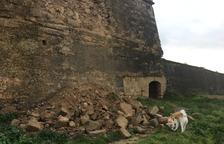 El desprendimiento de la muralla norte de la Seu Vella.