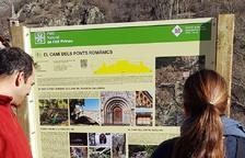 Isil millora la senyalització de la ruta dels ponts romànics