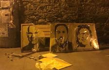 Denuncian vandalismo contra símbolos independentistas