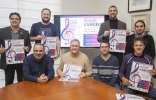 Els participants a la presentació ahir del cicle 'Musicant l'Urgell. So & Patrimoni'.