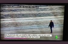 A Lleida, tot el dia fent surf