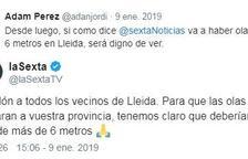 LaSexta es disculpa amb els lleidatans per la platja de Lleida