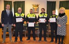 La Policia Local va recollir ahir els diplomes acreditatius.