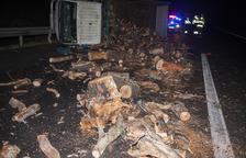 Cortada 3 horas la autovía en Bellpuig por un choque