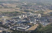 Vista aèria del polígon industrial El Segre.