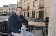 L'historiador de Sedó establert a Sanaüja Jordi Oliva, la setmana passada a Cervera.