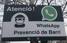 Un barrio de Agramunt avisa a posibles ladrones que los controla por WhatsApp