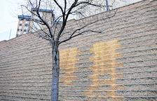 Pintades grogues en una caserna de la Guàrdia Civil