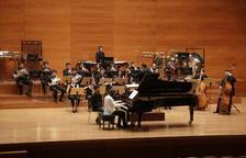 Alumnes de l'Escola Superior de Música de Catalunya, a l'Auditori
