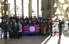 La Penya Gastronòmica Barça recolza la Seu Vella davant la Unesco