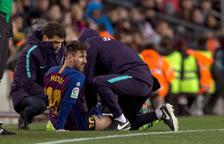 El Barça, pendent de Messi