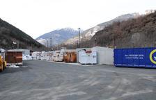 Una de les deixalleries de la Val d'Aran que es milloren.