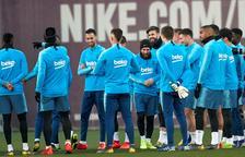 Messi y Dembélé viajan