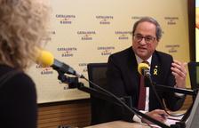 Torra, durante la entrevista a Catalunya Ràdio esta mañana.