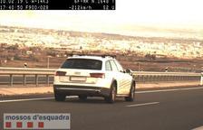 Denunciado un conductor por circular a 212 km/h en Torrefarrera