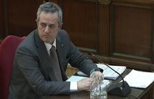 Joaquim Forn, en un momento de su declaración en el Supremo.
