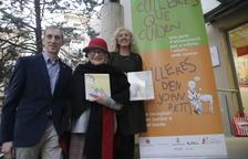L'impulsor del llibre, Joan Torner, la il·lustradora Pilarín Bayés i la nutricionista Antonieta Barahona.