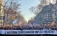 El sobiranisme omple la Gran Via de Barcelona per protestar pel judici a la cúpula de l'1-O