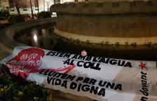 Accions contra la precarietat laboral a Lleida