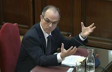 El exconsejero de Presidencia de la Generalitat Jordi Turull en un momento de su declaración en el Tribunal Supremo.