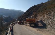La caiguda de roques obliga a invertir 1,5 milions per reforçar l'Eix Pirinenc