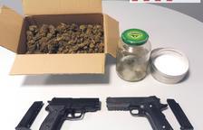 Dos detenidos por tráfico de drogas y amenazas en Guissona