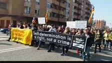 Manifestació a Mollerussa contra el judici del Procés