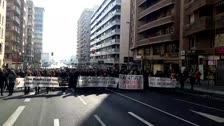 Manifestació a Lleida contra el judici del Procés