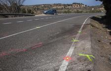 Mor una veïna de Lleida de 57 anys en un xoc frontal de dos vehicles a Ciutadilla