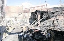 Un foc calcina una caseta abandonada a Juneda