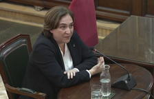 Ada Colau, compareciendo en el Supremo
