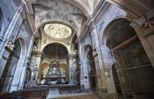 El interior de la iglesia de Sant Salvador de Tarroja de Segarra.