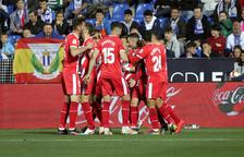 Tres punts d'or per al Girona a Butarque