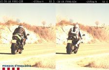 Las dos motos fueron detectadas con apenas un segundo de diferencia entre ellas.
