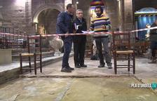 Es descobreix una làpida del s.XVII a Linyola