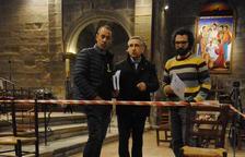 Troben a l'església de Linyola una làpida del segle XVII i hi busquen una cripta