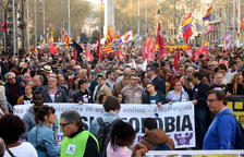 Manifestació a Barcelona de 200 entitats contra Vox