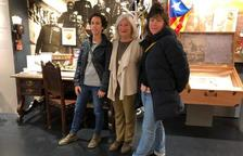 La besnéta de Macià visita l'espai de les Borges dedicat al president