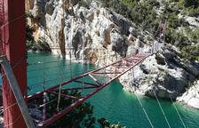 La pasarela de Mont-rebei reabre hoy tras cuatro meses