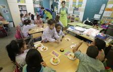 Un taller de promoción del consumo de fruta en una escuela de Lleida el pasado mes de diciembre.