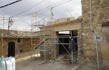 Les obres de l'edifici que acollirà el museu de Tarrés.